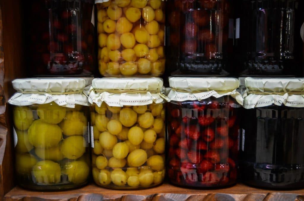bocaux fruits alcool