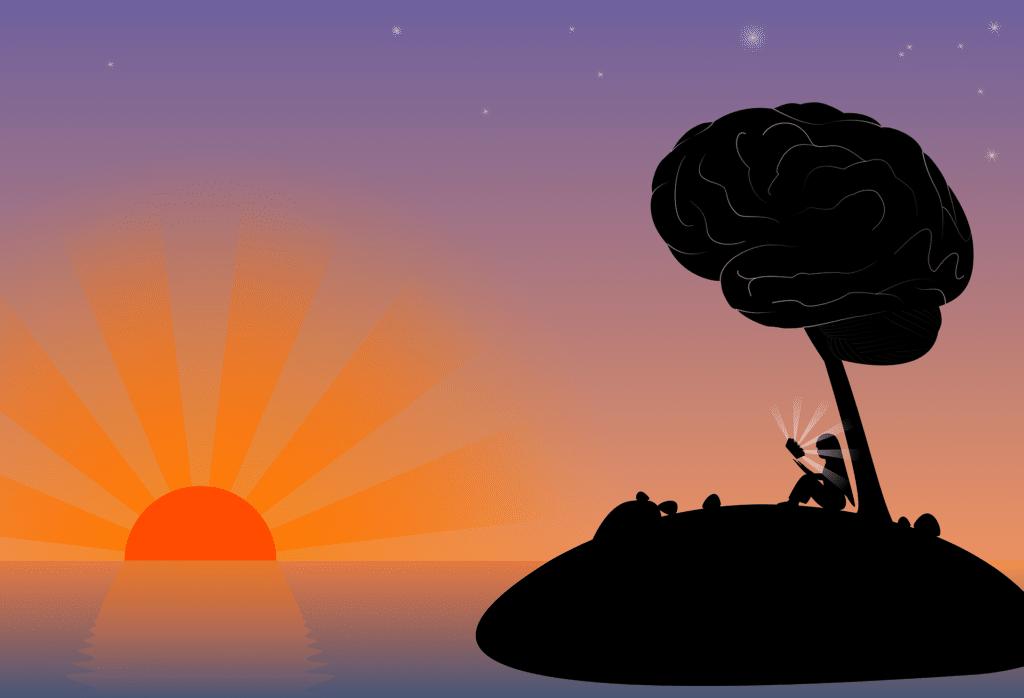 coucher soleil cerveau