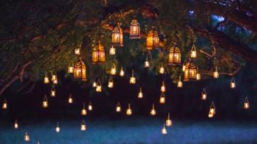 jardin terrasse guirlande lumière lumineux