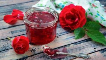 confiture de pétales de roses