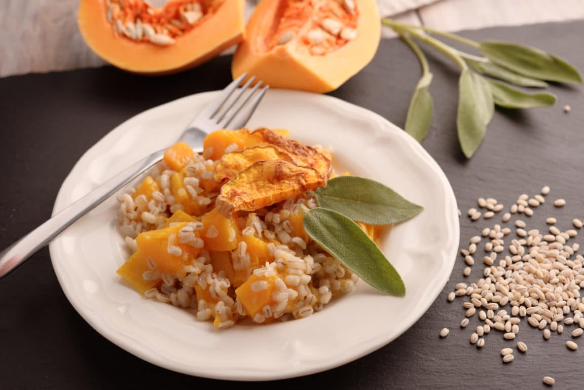 courge butternut risotto