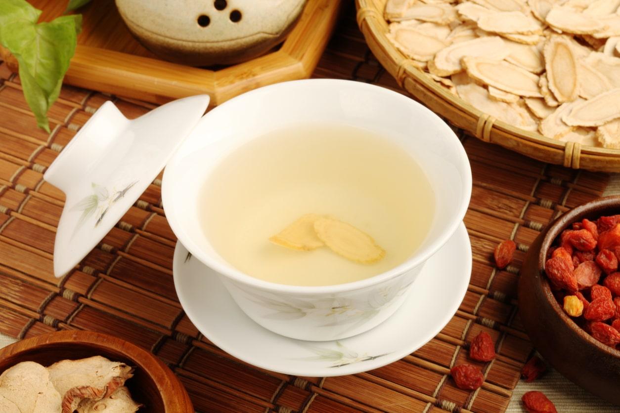 Ginseng tisane thé