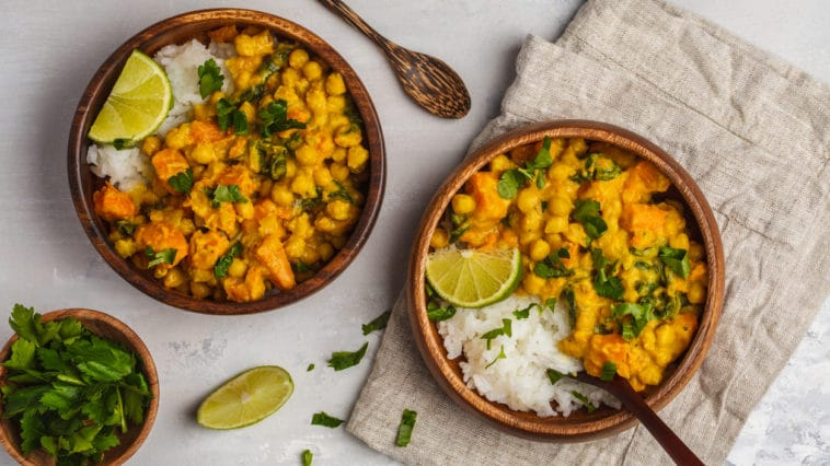 curry epinards pois chiche patates douces