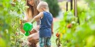 enfant potager jardiner