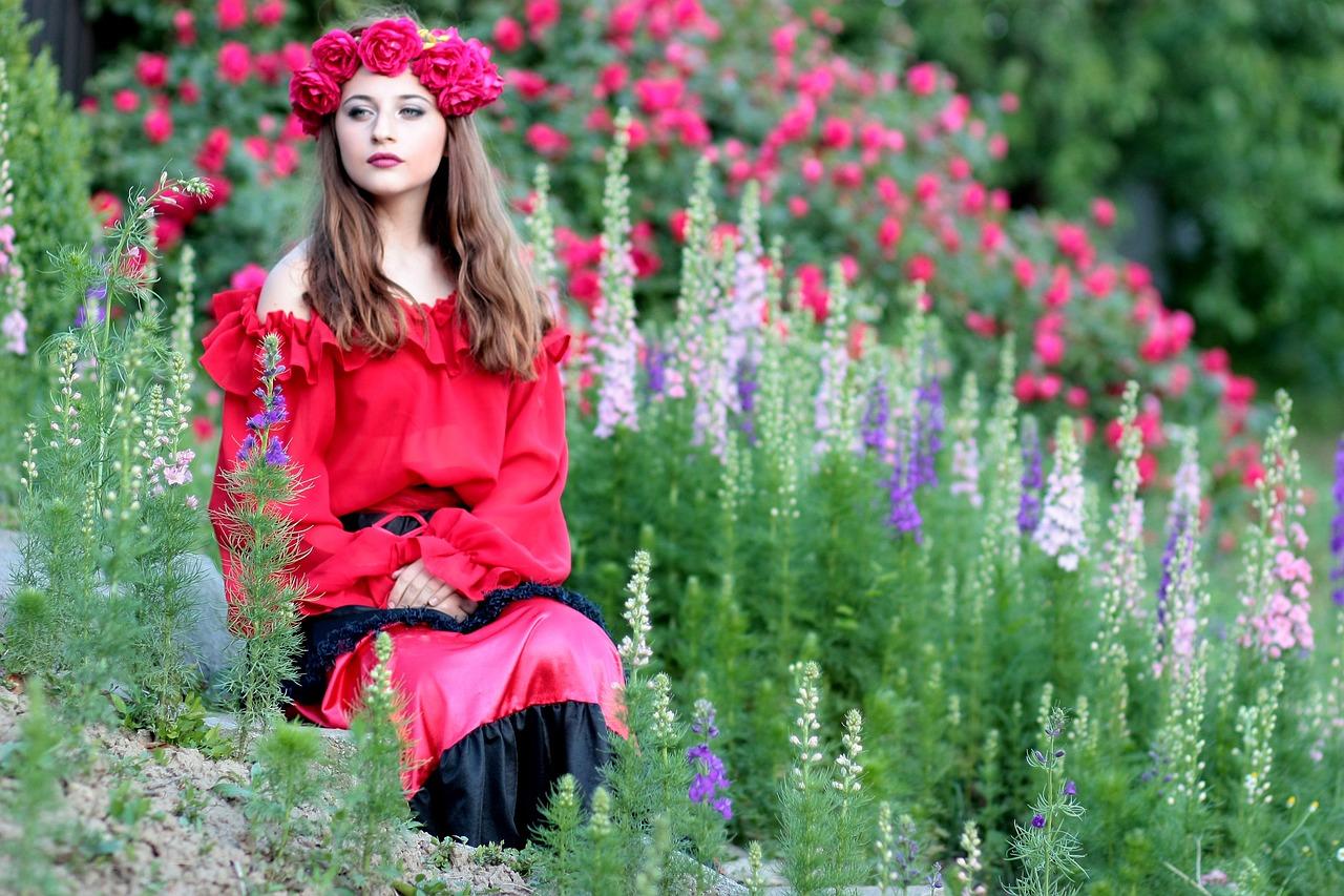 Couronne romantique roses rouges