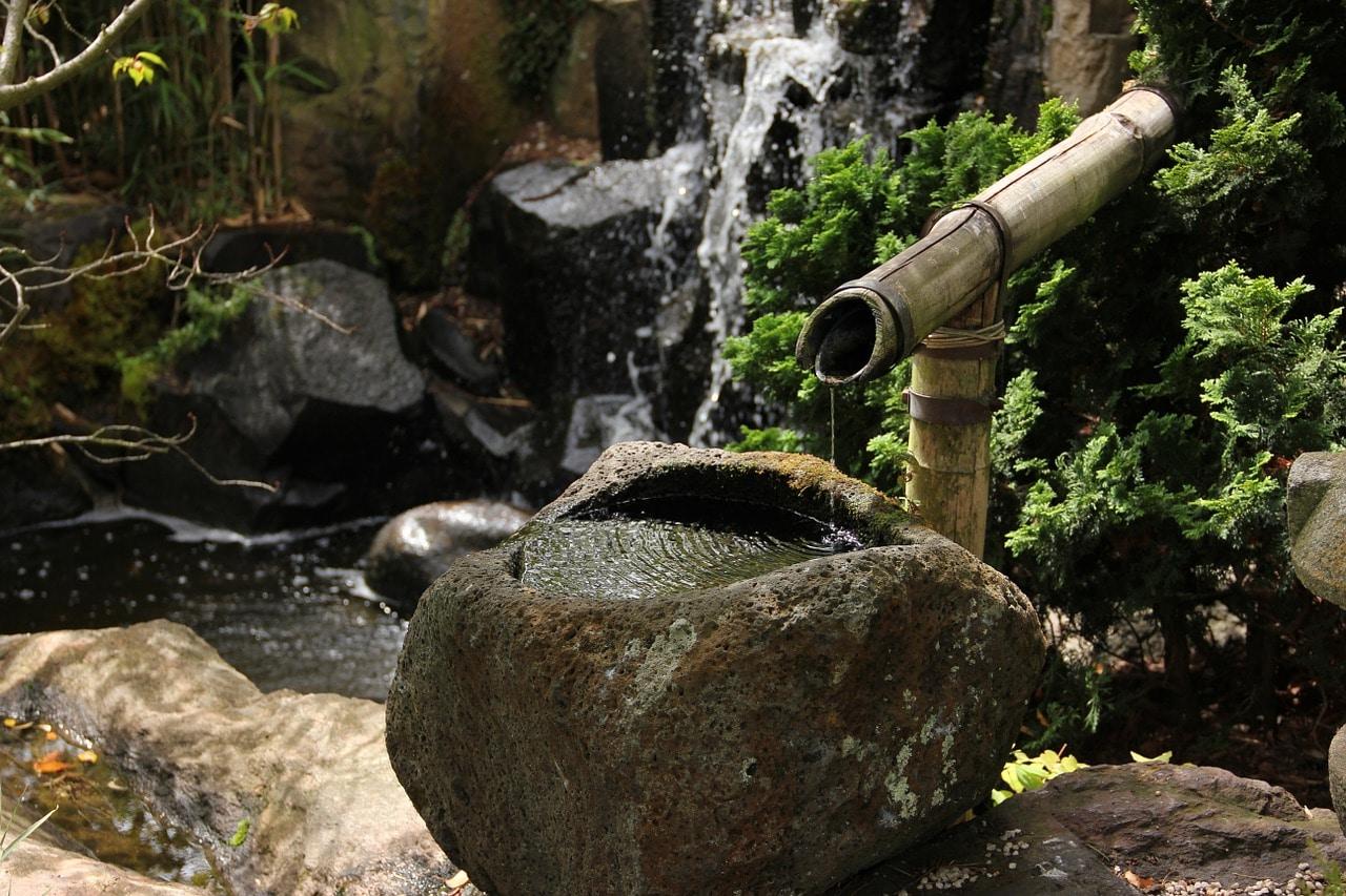 Jardin japonais pierre fontaine