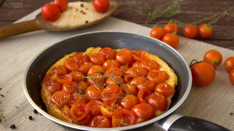 Tatin salee aux tomates cerises