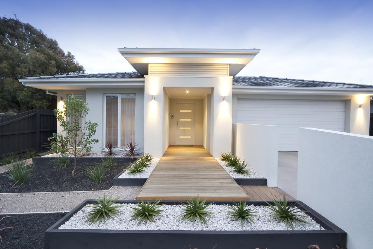 entree maison moderne gravier