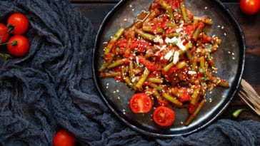 haricots verts tomate