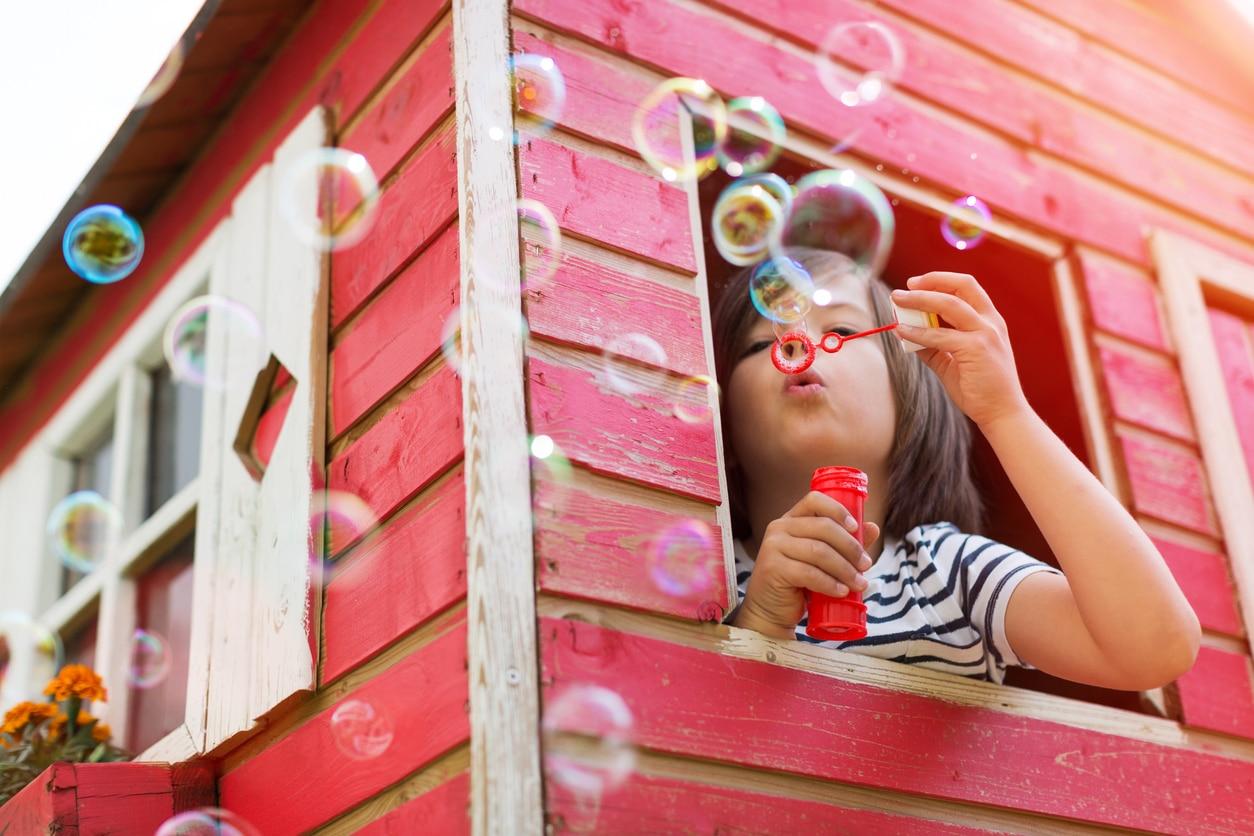 jardin enfants cabane