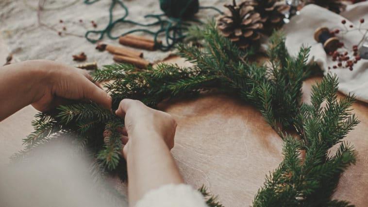 décoration Noël couronne